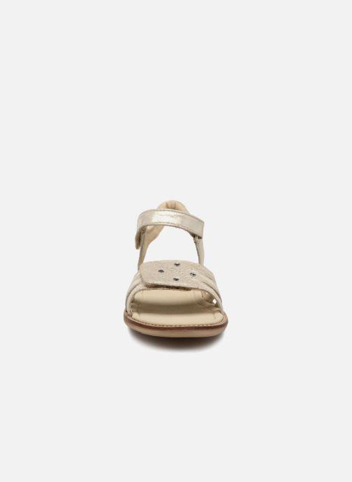 Sandales et nu-pieds Noël SIRI Or et bronze vue portées chaussures