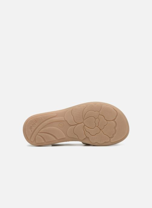 Sandales et nu-pieds Noël SIRI Or et bronze vue haut
