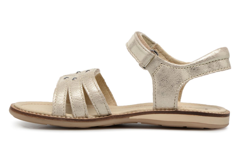 Sandales et nu-pieds Noël SIRI Or et bronze vue face