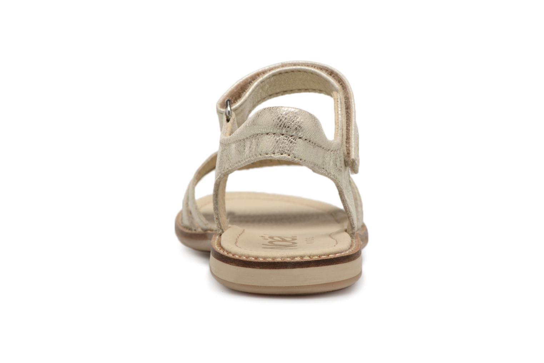 Sandales et nu-pieds Noël SIRI Or et bronze vue droite