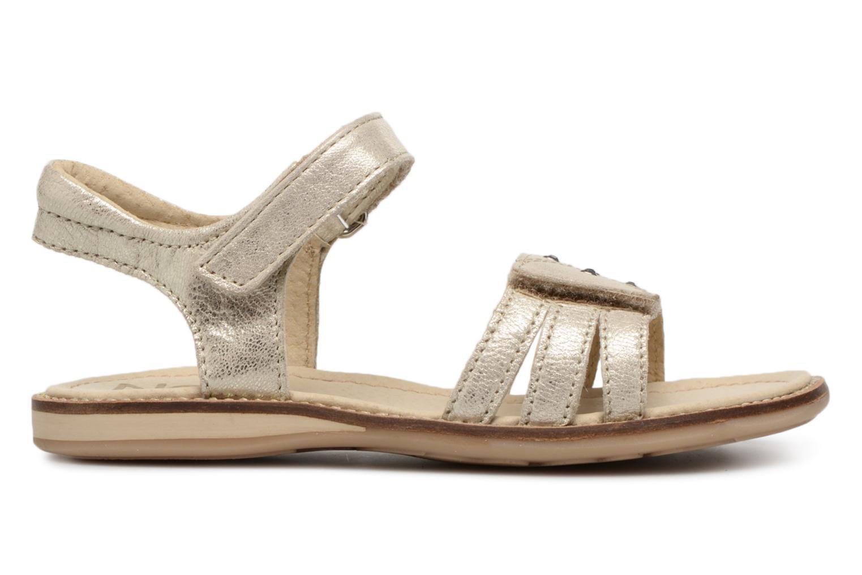 Sandales et nu-pieds Noël SIRI Or et bronze vue derrière
