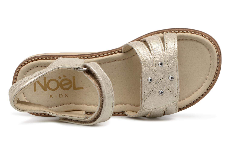 Sandales et nu-pieds Noël SIRI Or et bronze vue gauche