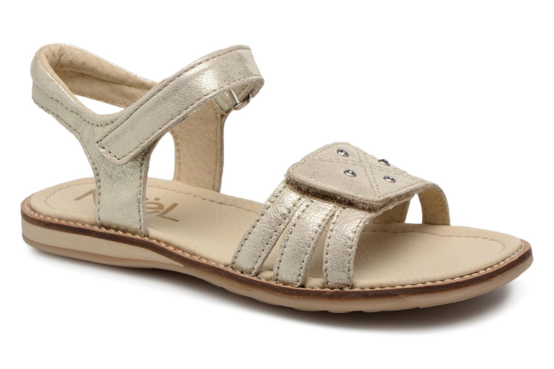 Sandales et nu-pieds Noël SIRI Or et bronze vue détail/paire