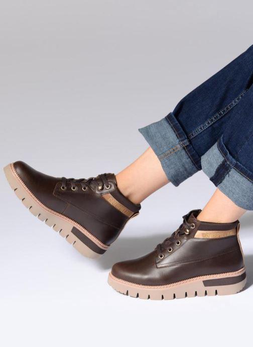 Bottines et boots Caterpillar Pastime Marron vue bas / vue portée sac