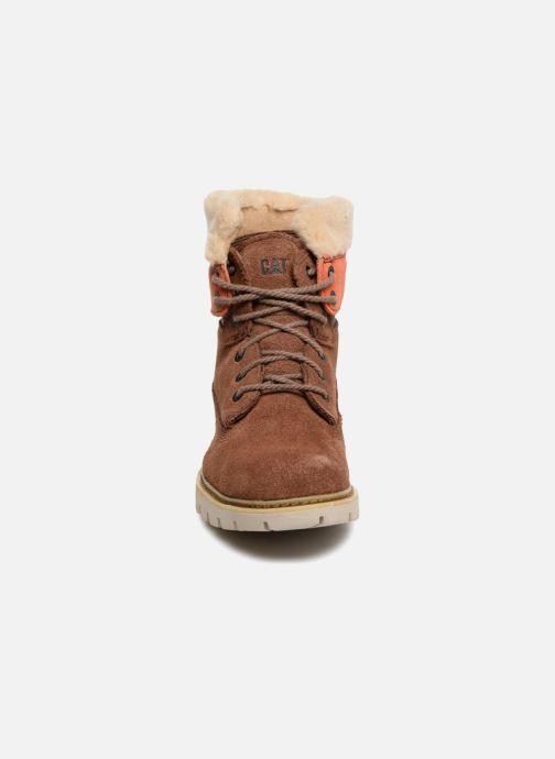Bottines et boots Caterpillar Lookout Fur Marron vue portées chaussures
