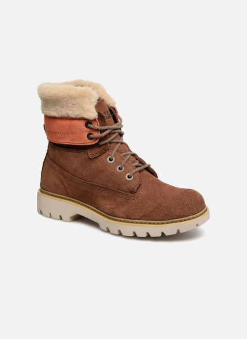 Bottines et boots Caterpillar Lookout Fur Marron vue détail/paire