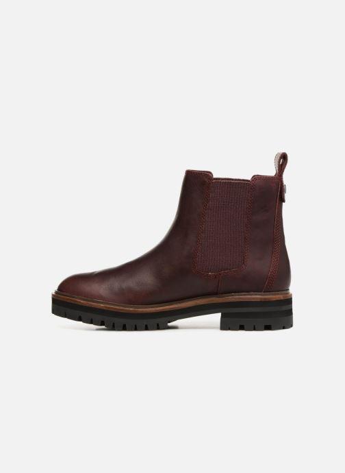 Bottines et boots Timberland London Square Chelsea Bordeaux vue face