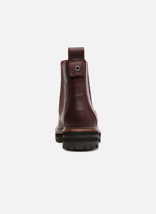 Bottines et boots Timberland London Square Chelsea Bordeaux vue droite