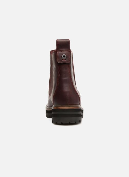 Bottines et boots Timberland London Square Chelsea Bordeaux vue droite