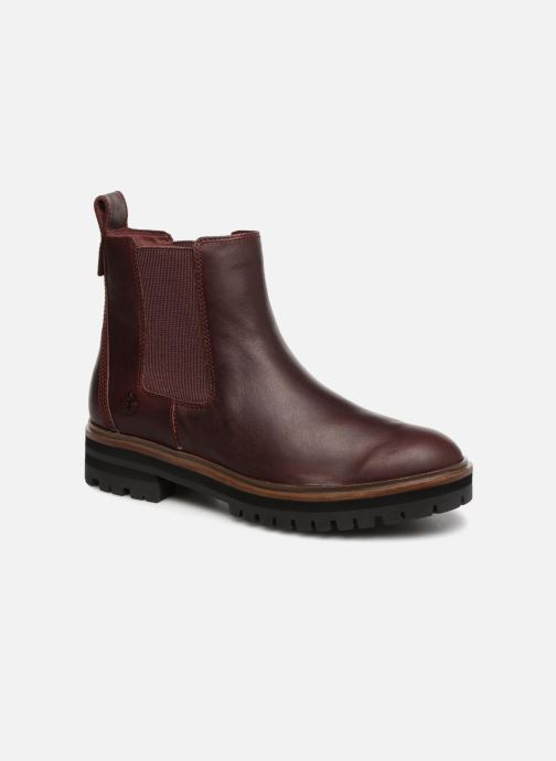 Bottines et boots Timberland London Square Chelsea Bordeaux vue détail/paire