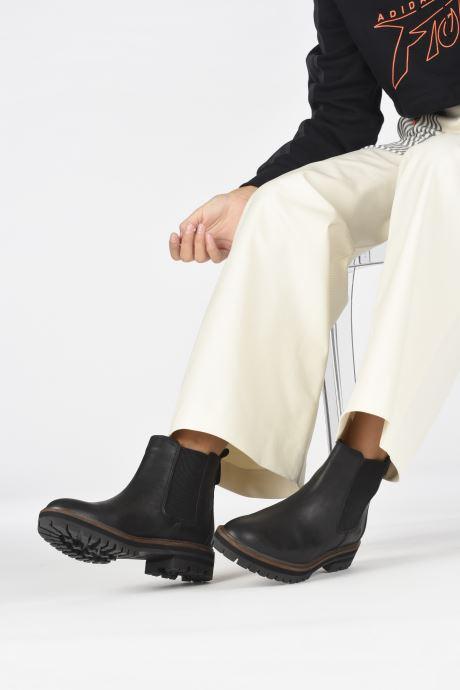 Stiefeletten & Boots Timberland London Square Chelsea schwarz ansicht von unten / tasche getragen