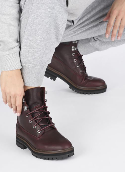 Bottines et boots Timberland London Square 6in Boot Bordeaux vue bas / vue portée sac