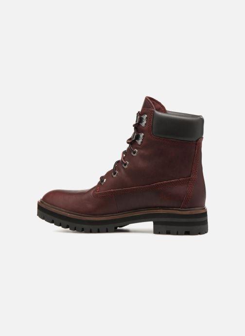 Stivaletti e tronchetti Timberland London Square 6in Boot Bordò immagine frontale
