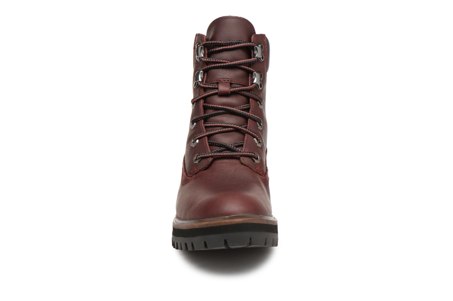 Bottines et boots Timberland London Square 6in Boot Bordeaux vue portées chaussures