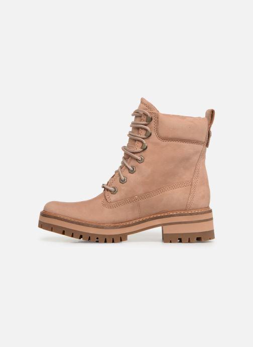 Boots en enkellaarsjes Timberland Courmayeur Valley YBoot Bruin voorkant