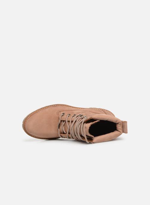 Boots en enkellaarsjes Timberland Courmayeur Valley YBoot Bruin links