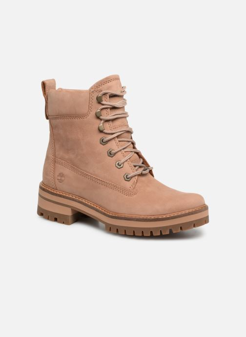 Boots en enkellaarsjes Timberland Courmayeur Valley YBoot Bruin detail