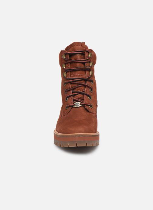 Boots en enkellaarsjes Timberland Courmayeur Valley YBoot Rood model