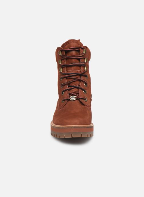 Bottines et boots Timberland Courmayeur Valley YBoot Rouge vue portées chaussures
