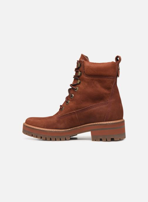 Bottines et boots Timberland Courmayeur Valley YBoot Rouge vue face