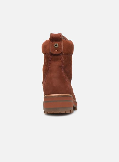 Bottines et boots Timberland Courmayeur Valley YBoot Rouge vue droite
