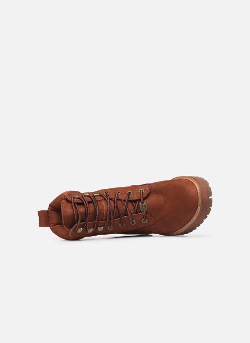 Boots en enkellaarsjes Timberland Courmayeur Valley YBoot Rood links