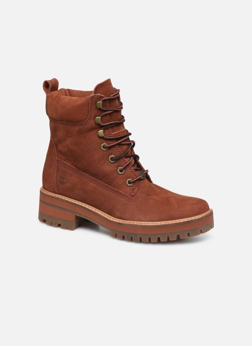 Bottines et boots Timberland Courmayeur Valley YBoot Rouge vue détail/paire
