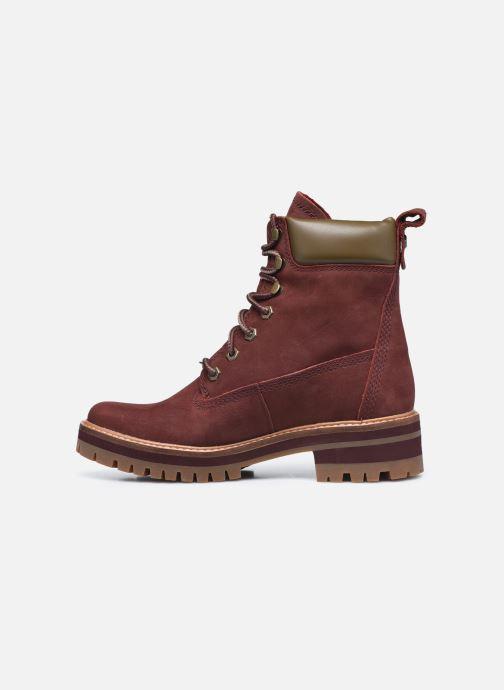 Bottines et boots Timberland Courmayeur Valley YBoot Bordeaux vue face