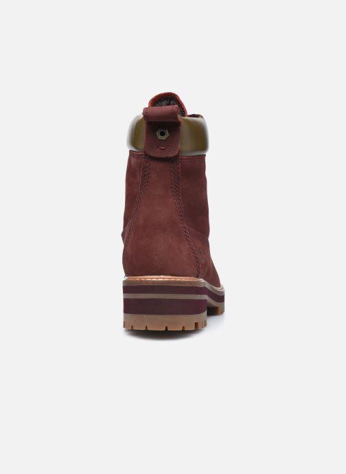 Bottines et boots Timberland Courmayeur Valley YBoot Bordeaux vue droite