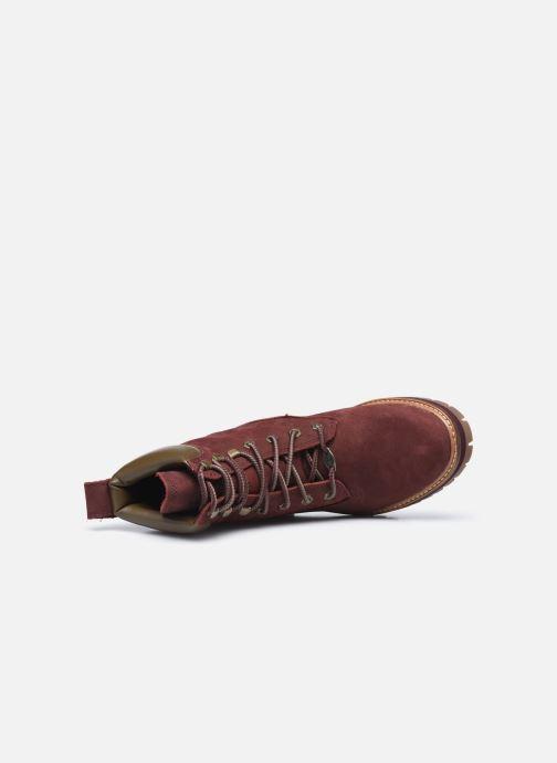 Bottines et boots Timberland Courmayeur Valley YBoot Bordeaux vue gauche