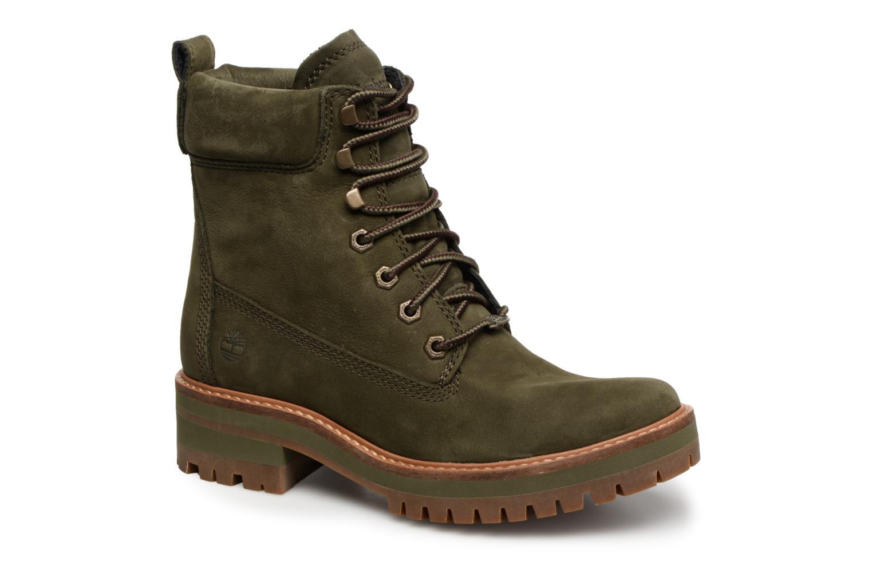 Bottines et boots Timberland Courmayeur Valley YBoot Vert vue détail/paire