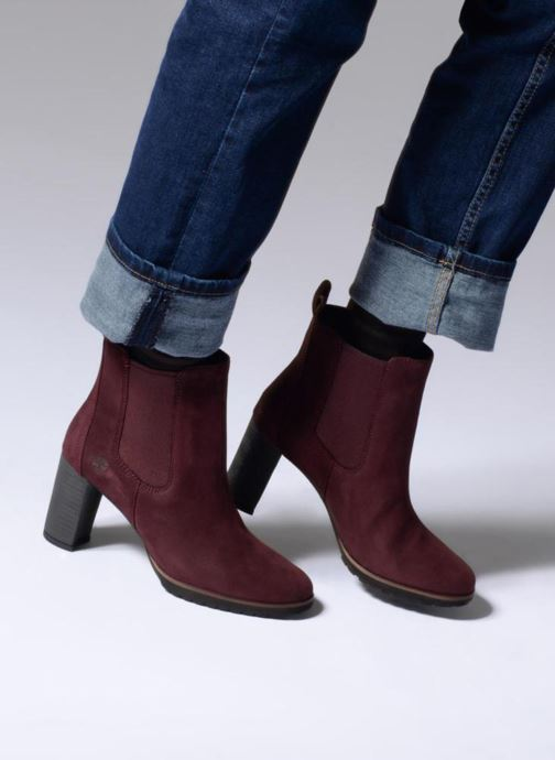 Ankle boots Timberland Leslie Anne Chelsea Burgundy view from underneath / model view