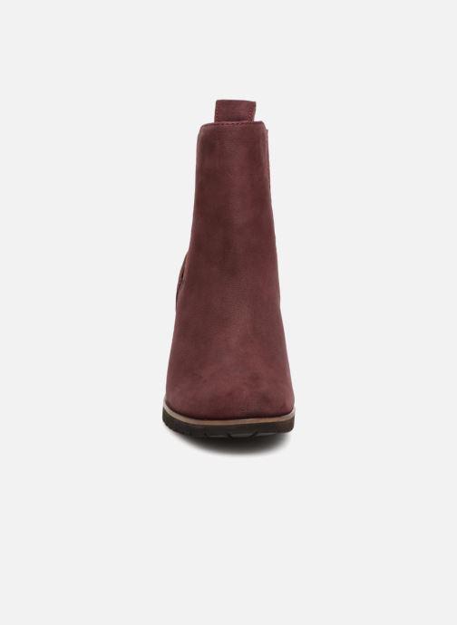 Bottines et boots Timberland Leslie Anne Chelsea Bordeaux vue portées chaussures