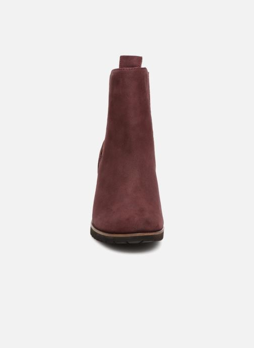 Ankle boots Timberland Leslie Anne Chelsea Burgundy model view