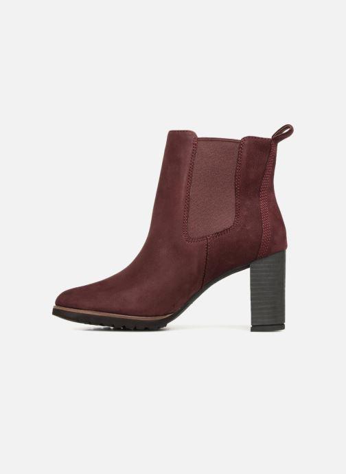 Bottines et boots Timberland Leslie Anne Chelsea Bordeaux vue face