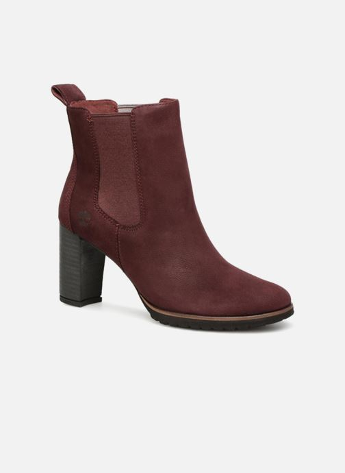 Ankle boots Timberland Leslie Anne Chelsea Burgundy detailed view/ Pair view
