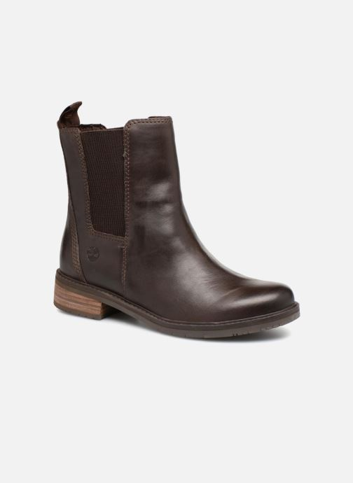 Ankle boots Timberland Mont Chevalier Chelsea Brown detailed view/ Pair view
