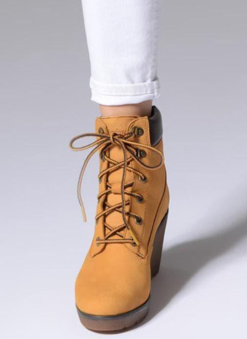 Boots en enkellaarsjes Timberland Paris Height 6in Bruin onder