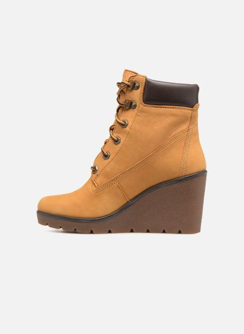 Boots en enkellaarsjes Timberland Paris Height 6in Bruin voorkant