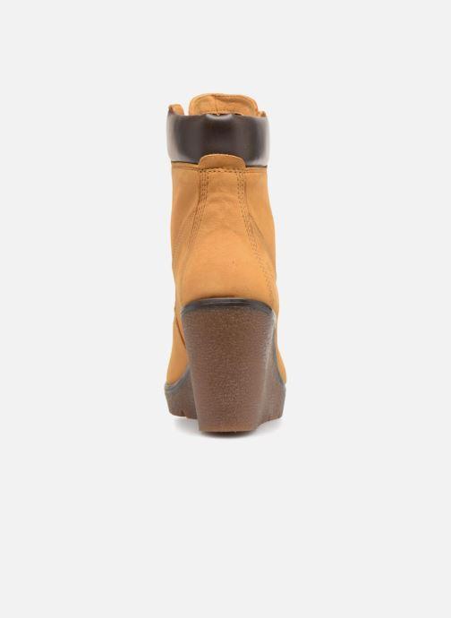 Boots en enkellaarsjes Timberland Paris Height 6in Bruin rechts