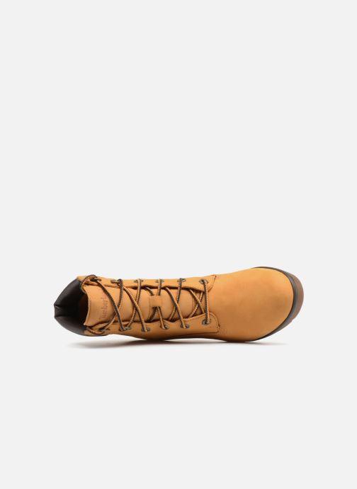 Boots en enkellaarsjes Timberland Paris Height 6in Bruin links