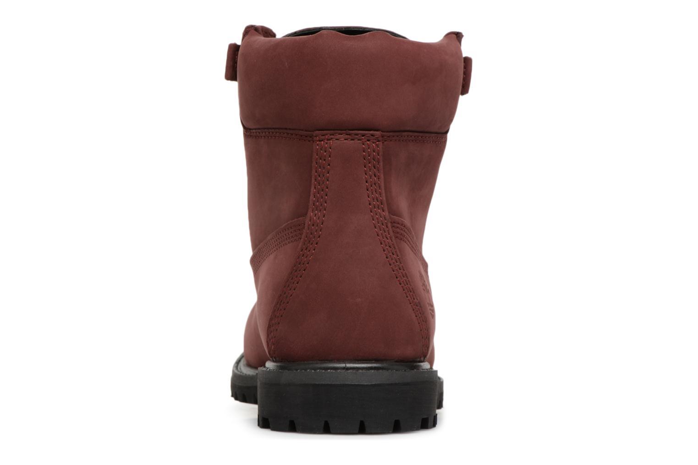 Bottines et boots Timberland 6in Premium Convenience Bordeaux vue droite