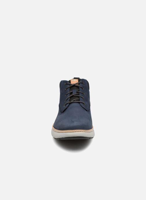Sneakers Timberland Cross Mark PT Chukka Azzurro modello indossato