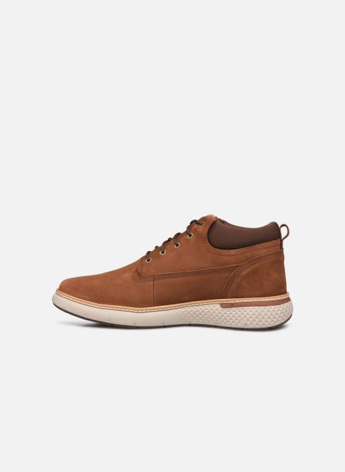 Baskets Timberland Cross Mark PT Chukka Marron vue face