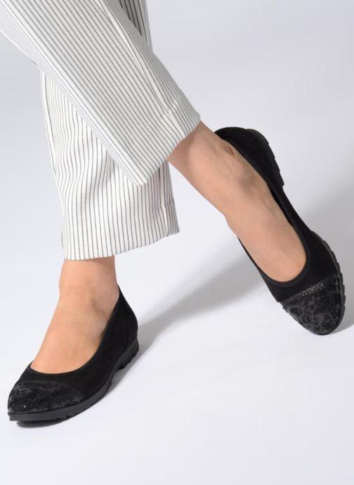 Ballerines Jana shoes MENA Noir vue bas / vue portée sac