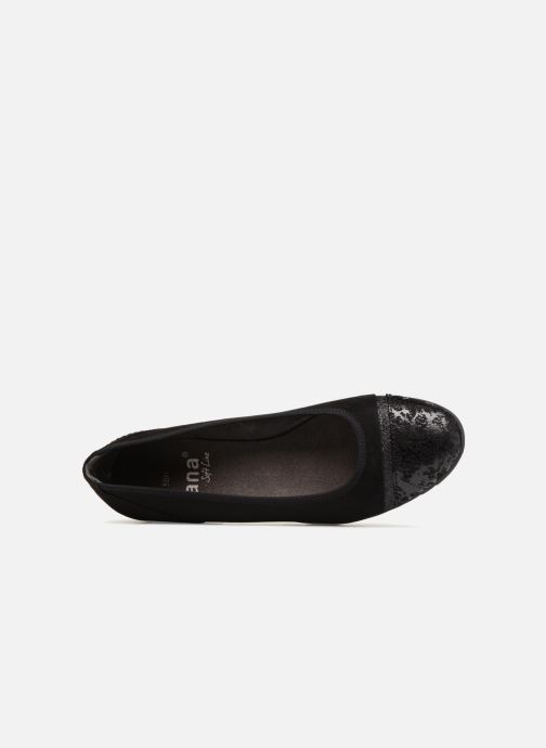 Ballerines Jana shoes MENA Noir vue gauche