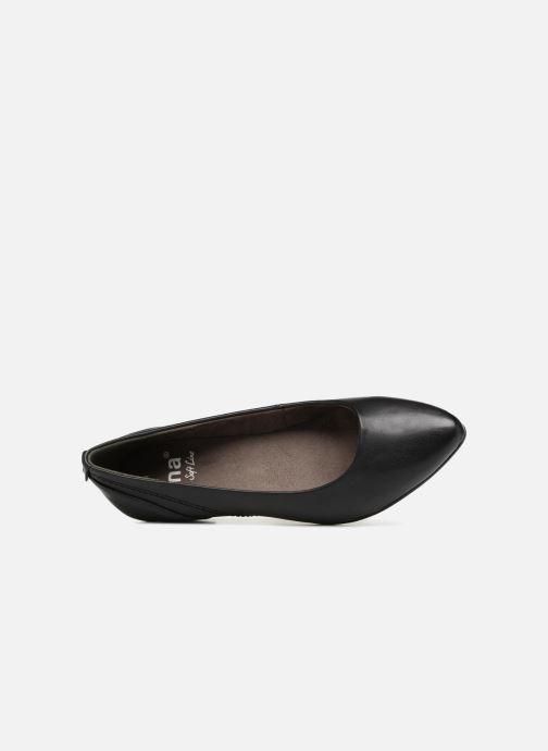 Ballerines Jana shoes NALA Noir vue gauche