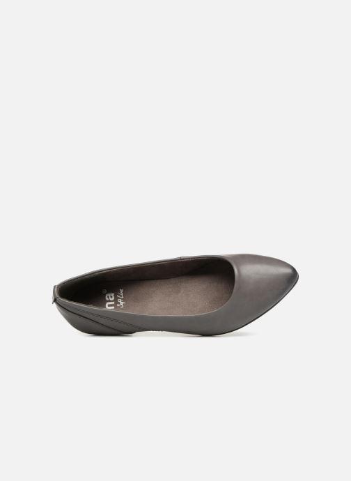 Ballerinas Jana shoes NALA grau ansicht von links