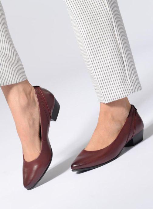 Ballerines Jana shoes NALA Bordeaux vue bas / vue portée sac