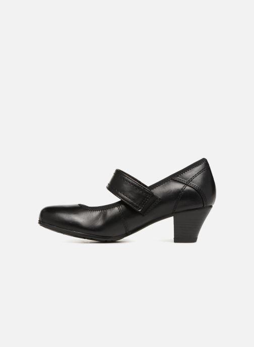 High heels Jana shoes LUGA Black front view